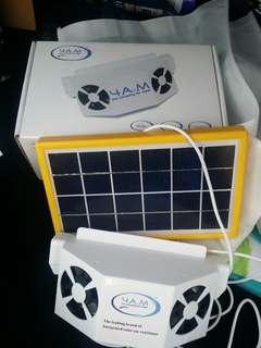 Car solar exhaust fan