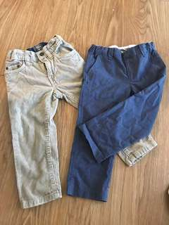 Chicco & h&m boys pants