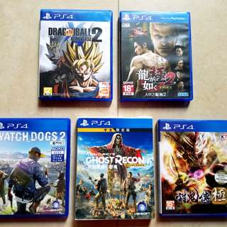 *PS4 Games- All 90% New* *Different prices*