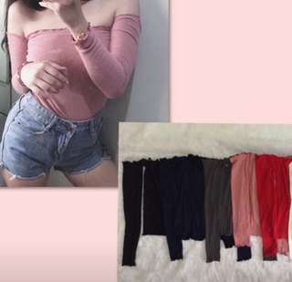 Offshoulder long top repriced