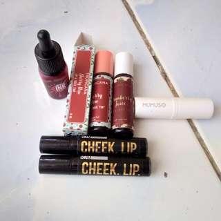Lip stain Bundle!!! (Free mumuso lip balm)