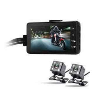 Two Channels HD 1080P Motorcycle Recorder Night Vision Motorcycle Recording Camera 3000