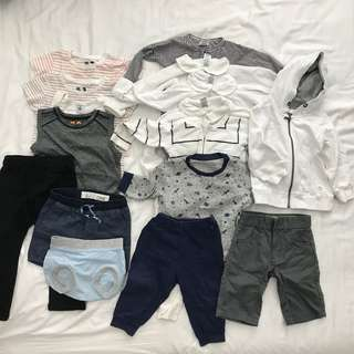 1y 12-18m Hoodie Pjs shorts shirts bottoms Boy Clothes bundle set