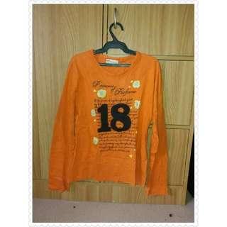 Orange longsleeves top
