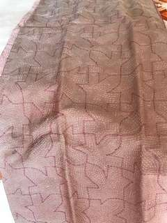 Stole kantha stitch hand embroidered on pure silk