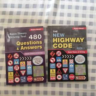 Basic Theory Test -  The New Highway Code book 1&2