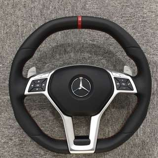 Rare! E63 AMG Steering wheel with paddle shift and red stitching