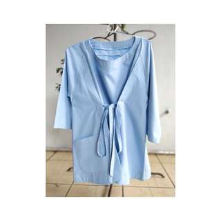 blouse smooth blue