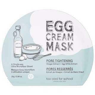 Too Cool For School Egg Mask Pore Tightening Mask