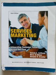 Services Marketing Textbook 6th Edition