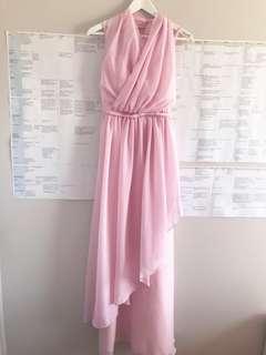 Multiway Pink Chiffon ball / bridesmaid dress