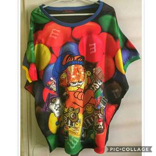 Garfield × M & M's sweater top