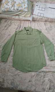 Wall Street Button-Down Long Sleeves - Green