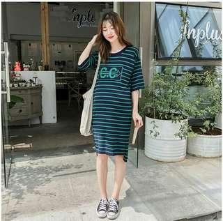 韓冰絲彈力舒適修身洋裝SY1805022