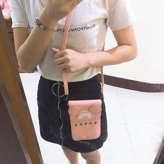 🚚 粉色米奇手機包