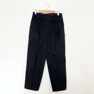 Uniqlo Pleated Ankle Trousers/Pants in Navy, M
