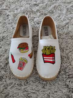 Esparadilles - fast food icon embroidery