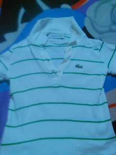 Polo shirts white stripes