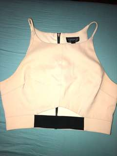 topshop cropped tank with cutouts
