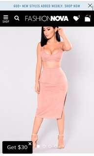 Fashion nova: Tala Suede set nude