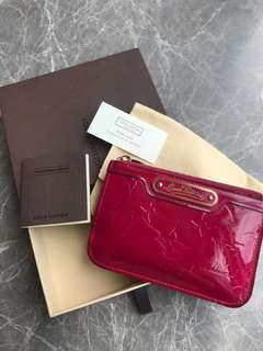Louis Vuitton Wallet monogram vernis key holder coin bag