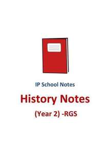 2017 RGS Year 2 IP History Notes / Sec 2 / Integrated Programme / School notes / History / free exam paper / Raffles Girls School / soft copy