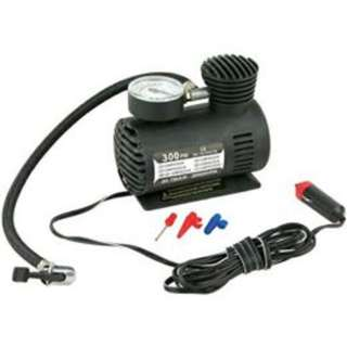 300PSI 12V Car Portable Mini Air Compressor black