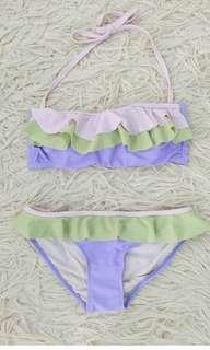 Ruffled pastel bikini