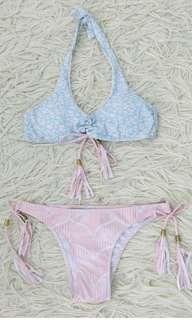 Pastel Bikini with tassels
