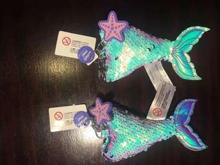 Smiggle mermaid bag charm scented