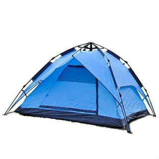4 Person automatic Double Layer waterproof Tent (blue)