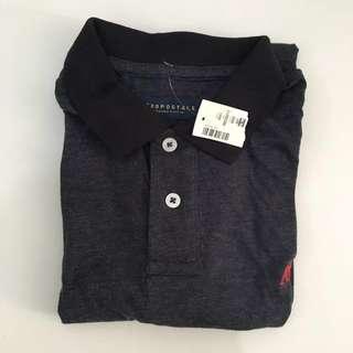 BNWT Aeropostale Black Cotton Polo Shirt
