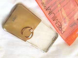 Soft case iphone 6/6s with ring Gold