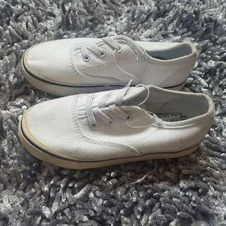 Joe Baxer white sneakers for toddler