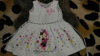 Minnie Mouse white dress