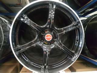 18inch 5H100 rays rim from japan
