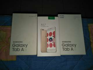OPPO A57 & SAMSUNG GALAXY TAB A6 EMPTY BOX