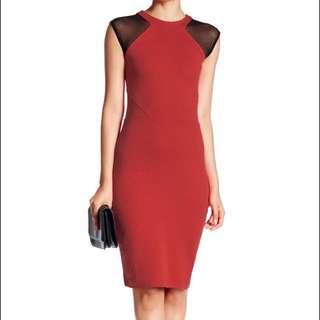 NEW WITH TAGS fcuk illusion netting sheath dress
