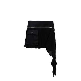 LIE - 黑色不規則剪裁裙褲