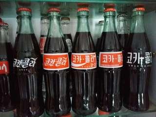 可口可樂韓國COCA COLA355ml歷代文字樽系列