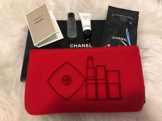 Authentic Chanel Makeup Bag & 4 products in box
