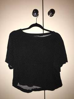 Spotty black crop tshirt
