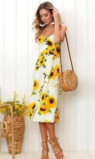NEW! Sunday Sunflower Midi Dress