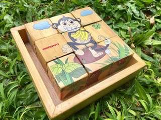puzzle kayu balok