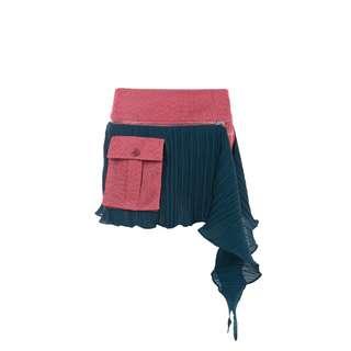 LIE - 粉紅和湖水藍不規則剪裁裙褲