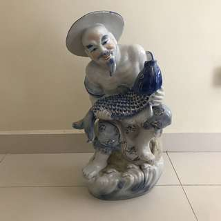 Statue height about 52cm width about 28cm