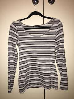 Grey Stripey long sleeve