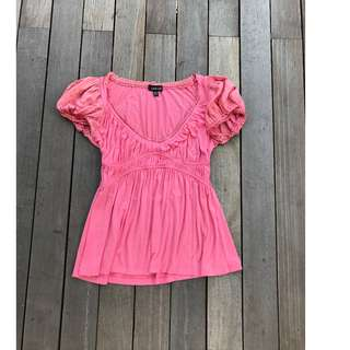 Bebe Size S Pink Top
