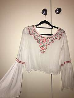Boho Beaded crop top