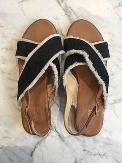 Denim espadrilles sandals (38)